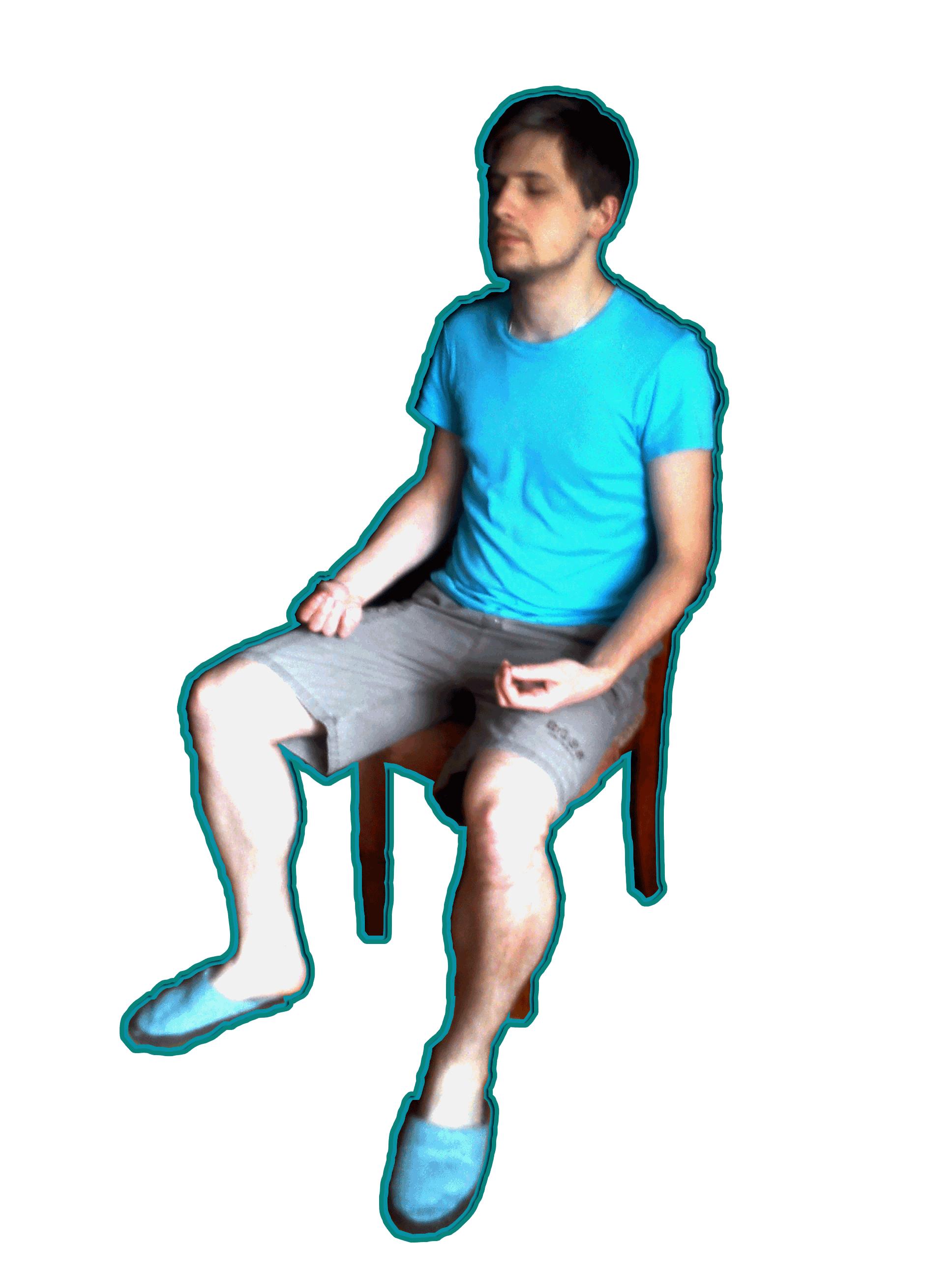 """Аутотренинг. """"Сидя прямо """" -рисунок 2"""