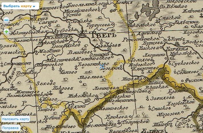 Карта 1794_населенные пункты вместо озеро Шейно
